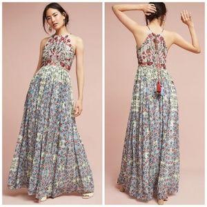NWT Anthropologie Adelise Beaded Halter Dress 8